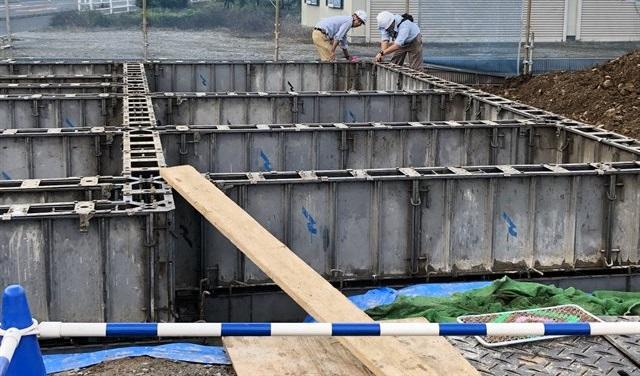 ヘーベルハウスの基礎工事
